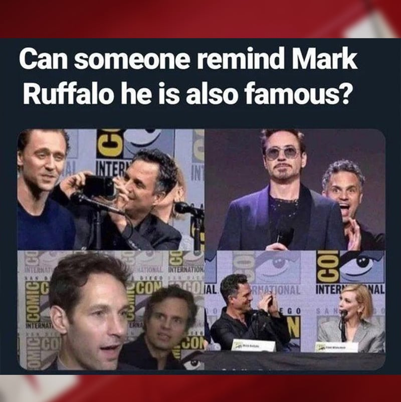 Excited Mark Ruffalo